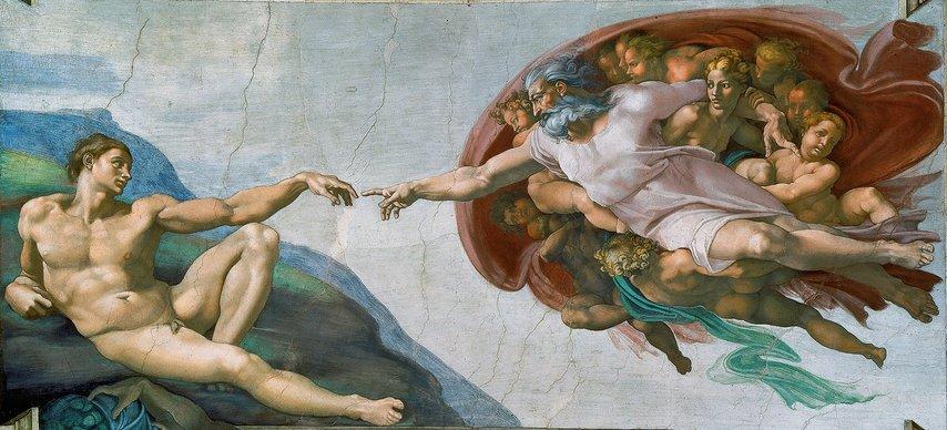 Michelangelo - Adem'in Yaratılışı 1